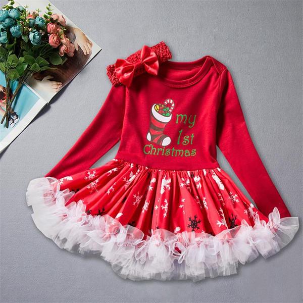 Suprimentos de natal vestido saia infantil Fashon boneco de neve padrão de impressão explosão vestido saia + headwear terno de duas peças V 2