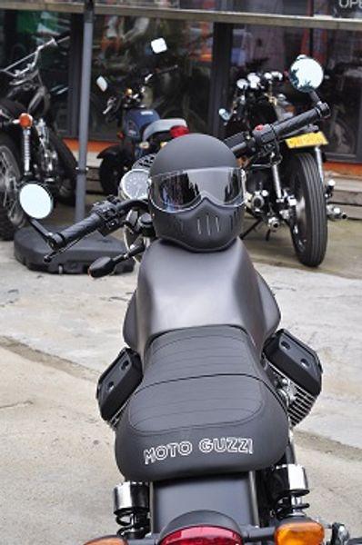 Matte black helmet