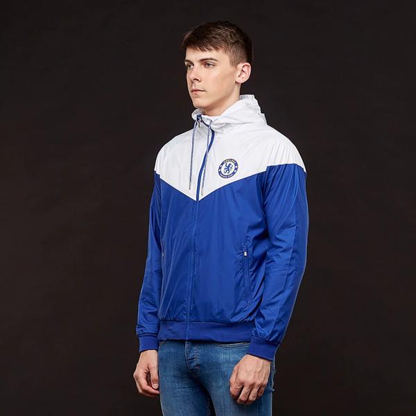 Giacche progettista all'ingrosso uomo donna squadra di calcio squadra con cappuccio patchwork sportswear zipper cappotto di marca stampa soprabito tuta sportiva S-2XL