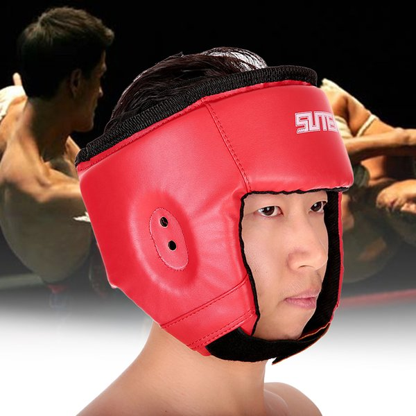 Pu Boxing Helmet Closed Type Boxing Head Guard Sparring Mma Muay Thai Brace Head Protection Sanda Taekwondo Protection Gear