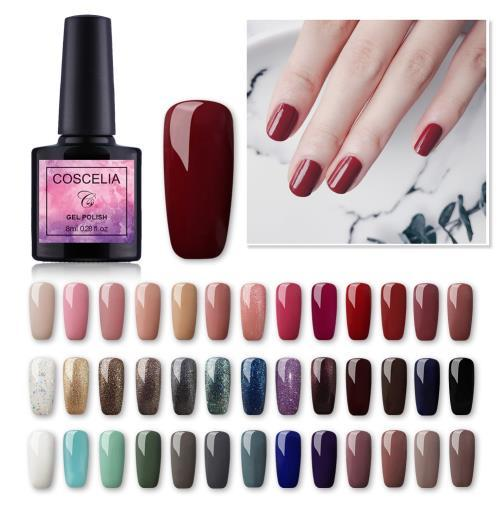 10pc / set Vernis À Ongles Vernis Semi Permanent Vernis Soak Off Gel UV Kit De Vernis À Ongles Gel UV Pour Ongles Gellack Manucure Ensemble