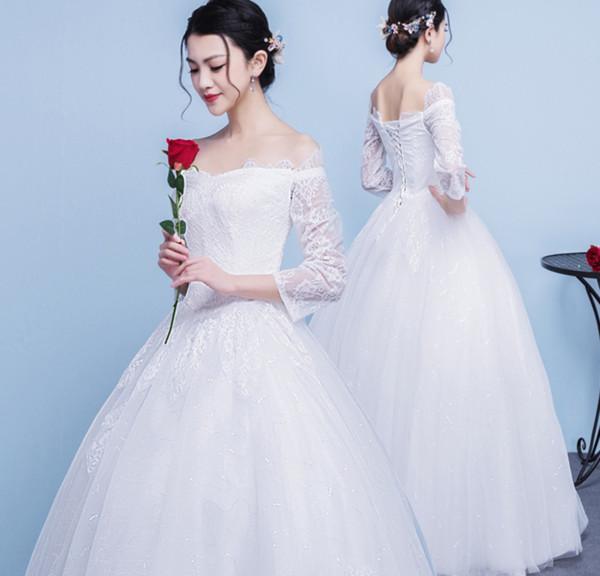 Großhandel 2018 Brautkleid Der Neuen Brautgroßes Hochzeitskleid Der ...