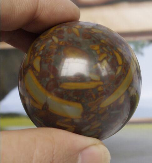 Detalles sobre la esfera de bola de curación con cristal de jade de la serpiente de bambú verde de bambú verde de cuarzo 50 mm + soporte 1pcs