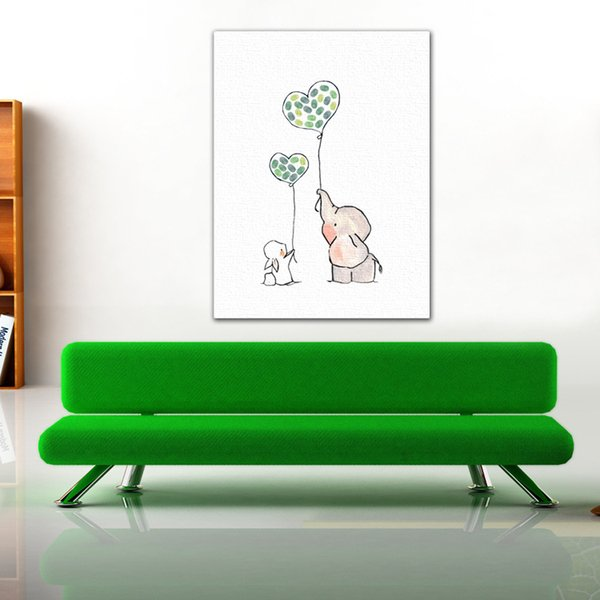 New Personalized Fingerprint Canvas Painting DIY Guest Book Cartoon Kid Baby Shower Birthday Happiness Event Party Anniversary Supplies