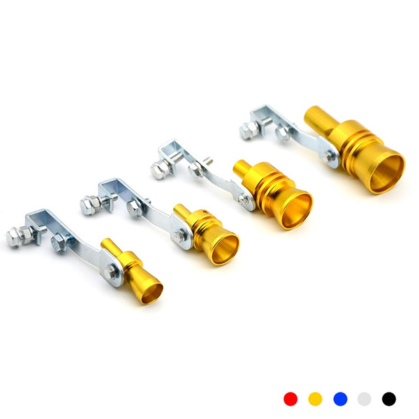 Universal Car Turbo Sound Whistle Muffler Exhaust Pipe Car Styling With 5 Colors Silver Black Red Gold Blue S/M/L/XL Size