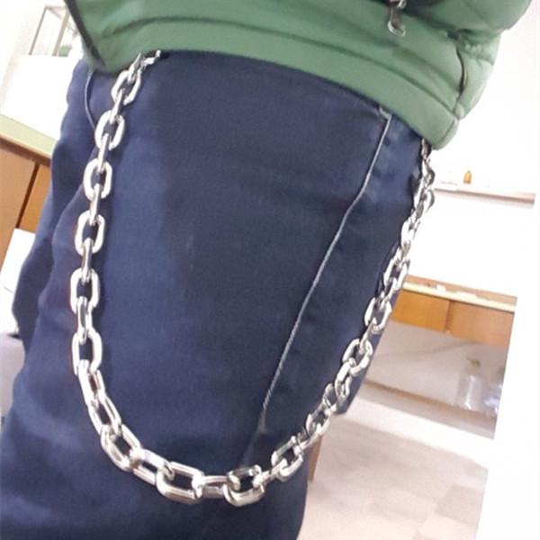 """26"""" NEW Punk Pants Chains Fashion Rock Waist Accessories For Women Men Unisex Hip-hop Punk Rock Cowboy Pants Trousers Chain Gift"""