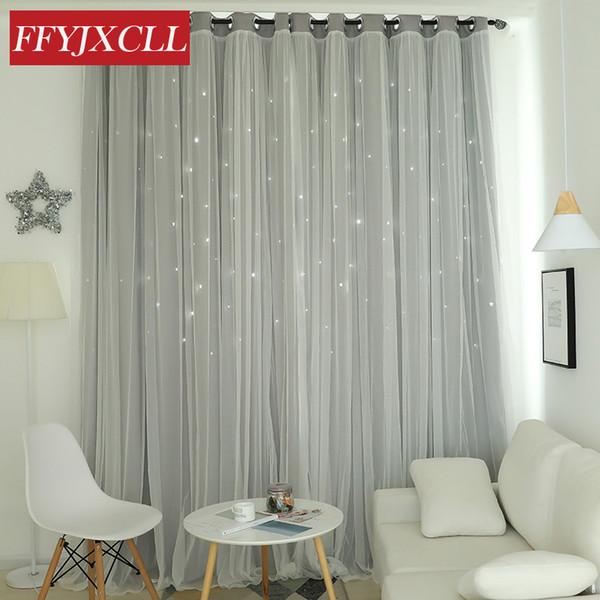 Delicieux Moderne Hohlstern Polyester Baumwolle Blackout Vorhänge Für Wohnzimmer  Schlafzimmer Fenster Vorhänge Für Die Schlafzimmer Junge Mädchen
