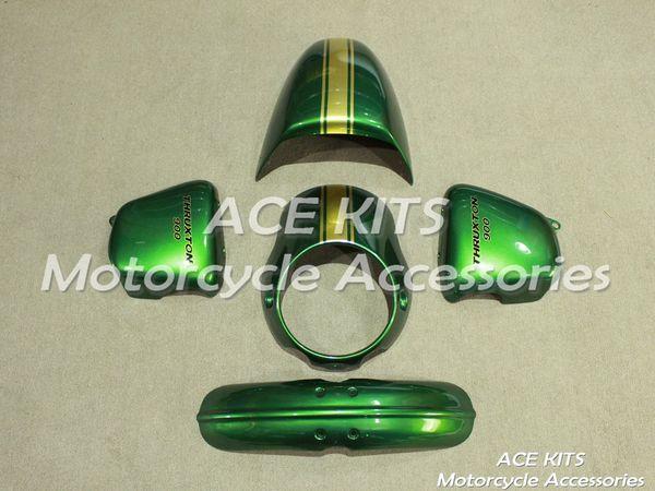 Carene Moto ACE per Triumph THRUXTON 900 2013 2014 Compression o Injection Bodywork Green No.600