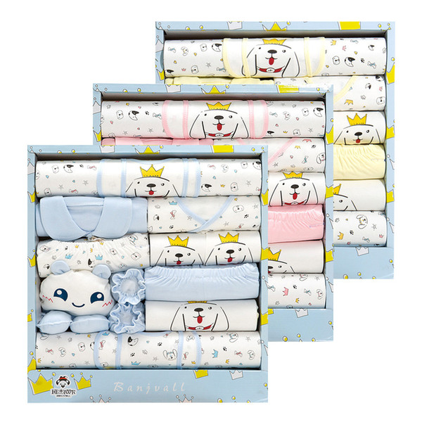 Newborn Clothes Sets 3 Color Cute Cotton Baby Clothes Best Baby Gift Sets 18020302 Drop Shipping