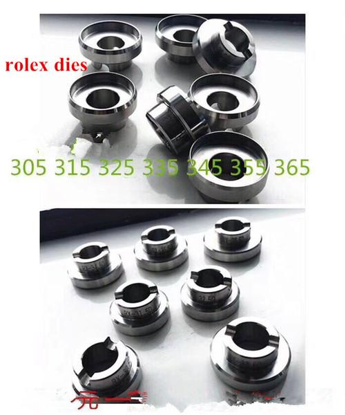 El envío libre 1pc abrelatas completo del reloj de Rlx del metal muere para la reparación del reloj Seleccione tamaños