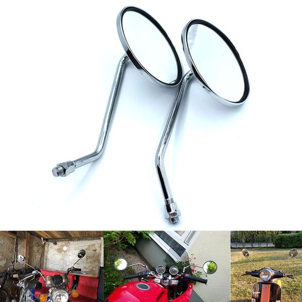 For Chrome Rear View Glass Side Mount Mirrors for Honda CB Hornet 600 900 CB600 CB900 X4 CB1300 Motorcycle Rearviews