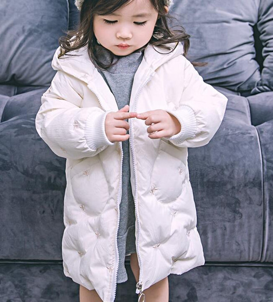 top popular 2018 new female children's children's down jacket in the long section of thick girls fashion wholesale sales 2021