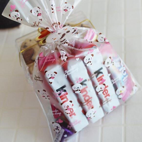 Großhandel Panda Geschenktüte Niedlichen Cartoon Cookie Taschen Hochzeit Geschenk Süßigkeiten Tasche Geburtstag Baby Shower Kekse Verpackung Dekor Von