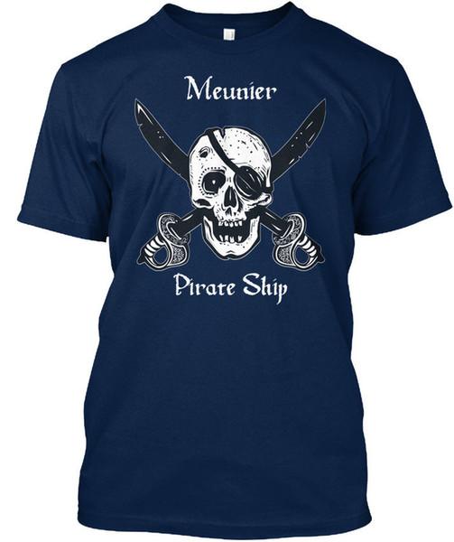 Meuniers Pirata Navio T-shirt Élégant Camiseta Homens Menino Louco Manga Curta Crewneck Algodão Tamanho Grande Casal Camiseta