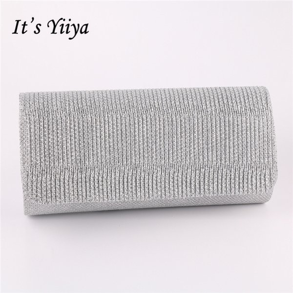 It's Yiiya 5 Colors Sales Fashion Designer Lady Style Party Dinner Bags Prom Panelled Day Clutches Evening Bag WY8006