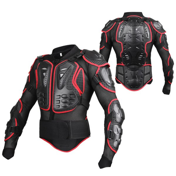 New Men's motocross racing ally suit jacket men New Fashion Black and Red Motorcycle Full Body Armor Jacket M-4XL