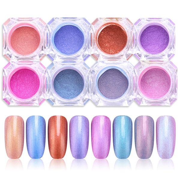 Chameleon Mirror Powder Glitters Magic Eyeshadow Cosmetic Nail Art Decoration UV Gel Chrome Pigment Dust 1g