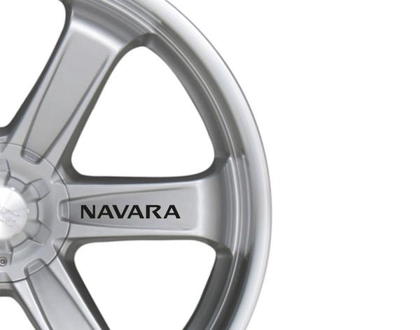 For 6x Car Alloy Wheel Sticker fits Nissan Navara Decal Vinyl Adhesive PT56