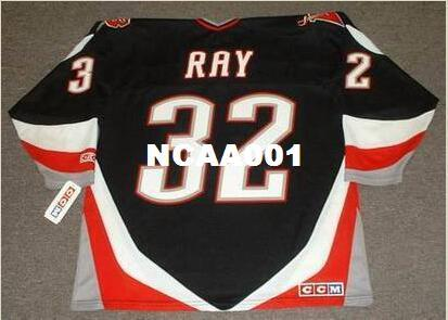 Mens #32 ROB RAY Buffalo Sabres 1999 CCM Away Home Hockey Jersey or custom any name or number retro Jersey