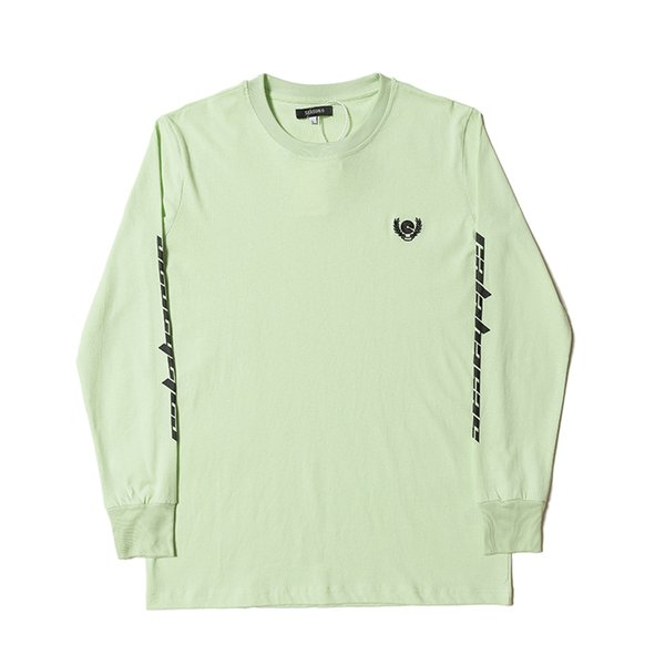 Kanye Supply Long Sleeve Sweatshirts High Street Mens Crew Neck Ribbed Pullovers Letters Printed Designer T Shirts for Spring Autumn