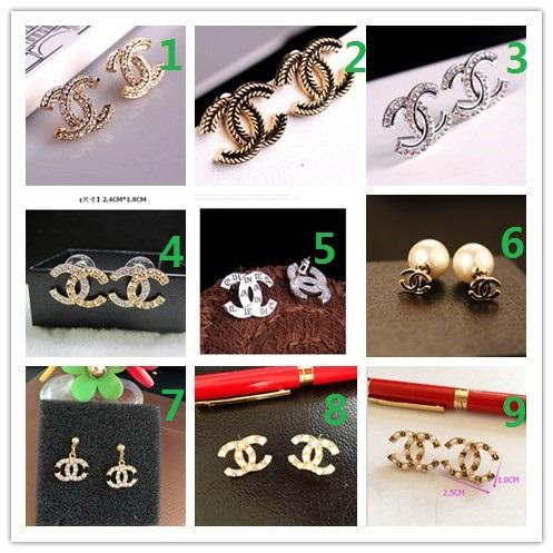 Wholesale PCS! Brand 14K Gold Silver Stud Earrings Pearl Diamond Corsage Classic Designer Letter Logo Collar Pin Party Wedding Jewelry AA2