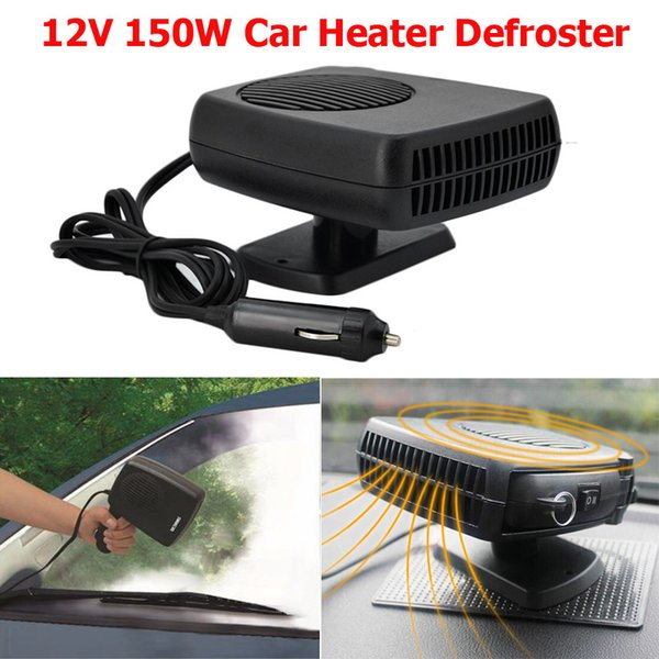 12V 150w Auto car heater fan Defroster Demister 2 in 1 portable car fan with Swing-out Handle Driving kits styling