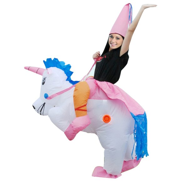 Adult Inflatable Unicorn Princess Halloween Fancy Dress Blow Up Party Cosplay Costume