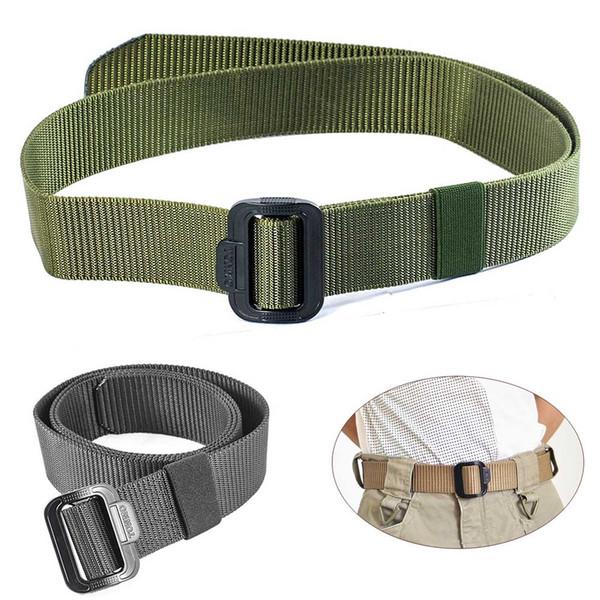 """Heavy Duty 1.5""""inch Tactical training Belt for Men's Jeans pants Male Waist Casual nylon Webbing Duty Belt"""