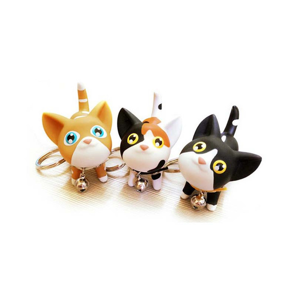 5 Styles Cat Key Chain Cat Keychain 100PCS Creative Cute Cartoon Doll Keyring Accessories Pet Jewelry For Gift