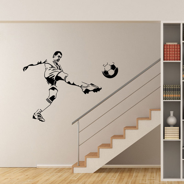 Football Soccer Ball Personalized Name Vinyl Wall Decal Sticker Art  Children Wall Sticker Kids Room Decor Home Decoration Removable Wallpaper  Decals ...