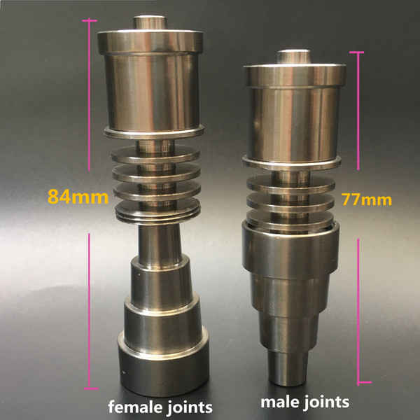 Dual use titanium smoking nail 6 IN 1 domeless spiral titanium nail E-nail coil with 10mm 14mm 18mm male and female joints