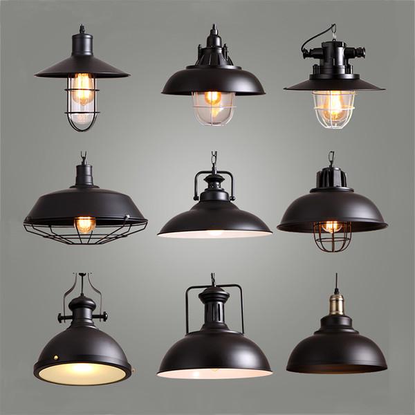 Acheter Style Industriel Rétro Pendentif Lumières Vintage Suspension Lampe  Suspension Avec E27 Led Ampoule Dormitorio Dinning Room Cuisine Bar De
