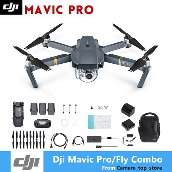 DJI Mavic Pro Fly Folding FPV Drone With 4K HD Camera OcuSync Live View GPS GLONASS System RC Quadcopter
