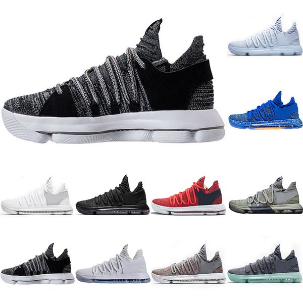 10 KD Kevin Durant Basketball shoes Men BHM Sports Shoes White black Numbers Anniversary Stucco Igloo Multi Color designer sneaker size 7-12