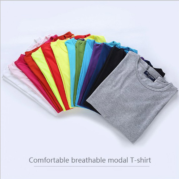 30pcs/lot S-3XL Plus Size Summer Modal short sleeve clothes t-shirts Blank men women t shirts solid color