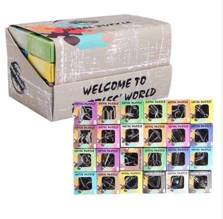 UTOYSLAND 24 pz / set Metal Wire Puzzle IQ Rompicapo classico giocattolo intellettuale per bambini adulti