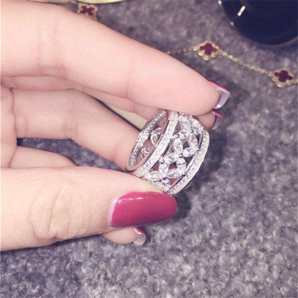 Marke weibliche Versprechen Ring Diamant Cz 925 Sterlingsilber für immer Liebe Engagement Ehering Ringe für Frauen Finger Schmuck