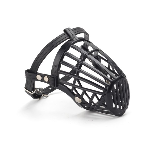 Adjustable PU Strap Pet Dog Muzzle Basket Cage Safety Mask Cover for Pet Profession Care Training Stop Biting Barking Chewing