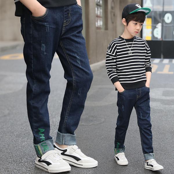2018 Big Boys Jeans Kids Pants Children Trousers Korean Kids Clothes Boy Jeans Pants Teenage Boy Denim Pants Age 5 8 11 13 Year