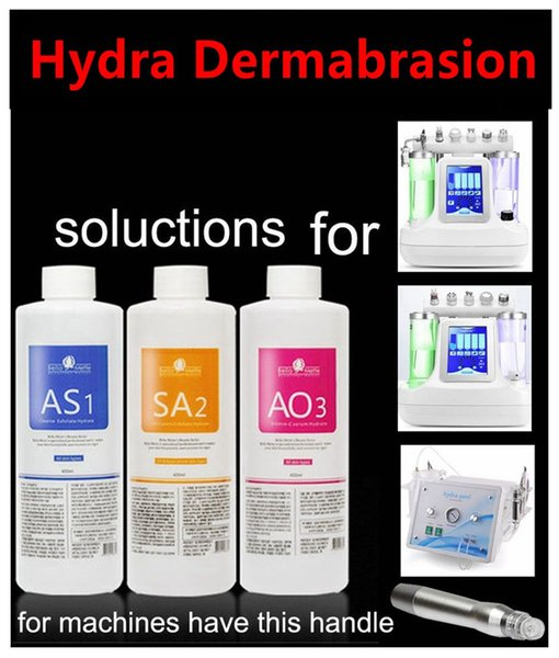 aqua peeling olution 400ml per bottle hydra dermabra ion facial erum clean ing for normal kin dhl delivery