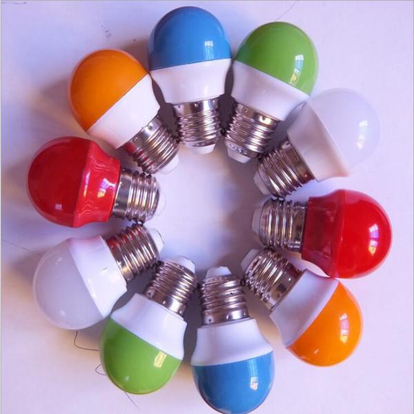 La nueva lámpara LED colorida 3W 220V plástico de la burbuja del bulbo de la bola de la linterna del festival enciende 20pcs