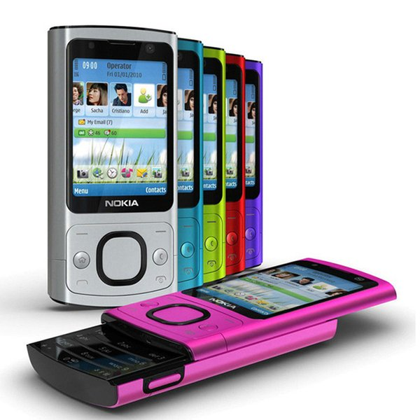 Refurbished Original Nokia 6700S 6700 Slide Unlocked Phone Symbian OS 2.2 inch Screen 5.0MP Camera GSM 3G Cell Phone Free DHL 10pcs