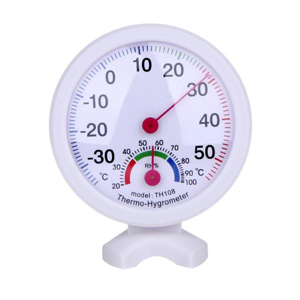 Круглая форма мини Белый крытый открытый аналоговый Стоградусный термометр гигрометр температура влажность метр измерительные инструменты быстрая доставка