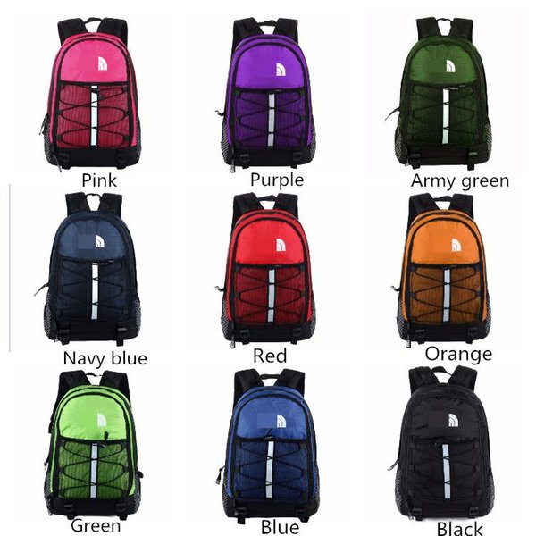 top popular 9 Colors The North F Backpack Casual Backpacks Travel Outdoor Sports Bags Teenager Students 41x27x18cm School Bag MMA405 10pcs 2019