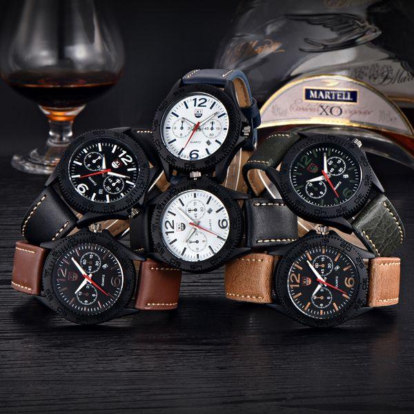 Orange Wrist Watch Men LED Clock Digital Watch Date Watproof Sport Wristwatch Stopwatch Alarm 1545 Mens Watches Military Army