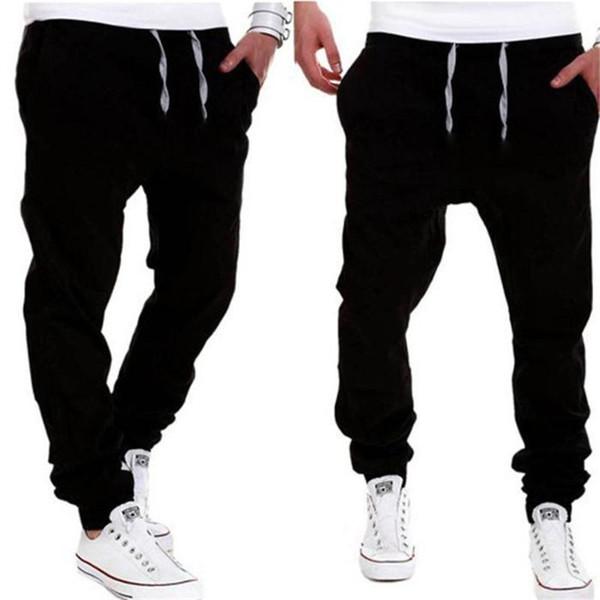 Men Harem Pants Brand 2018 Jeans Tether Casual Sagging Pants Men Trousers Drop Crotch Pant Men Joggers Feet Pants Hanging Crotch
