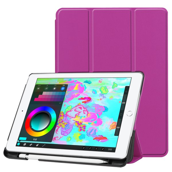 iPad 9.7 2018 Case with Pencil Holder, Multi-Angle Viewing Slim Lightweight Smart Hard Shell Cover for iPad 9.7 Inch 2018 Edition