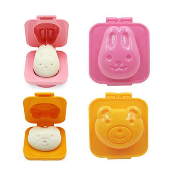 Free Shipping 6Pcs/Set Boiled Egg Mold Cute Cartoon 3D Egg Mold Maker Cutter Decorating Egg Tools Random Color