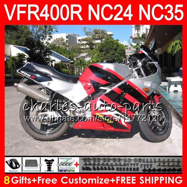 RVF400R For HONDA Glossy red VFR400 R NC24 V4 VFR400R 87 88 94 95 96 81HM41 RVF VFR 400 R NC35 VFR 400R 1987 1988 1994 1995 1996 Fairings