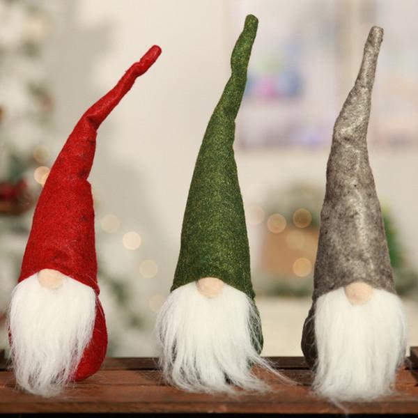 Christman Père Noël Poupée Scandinave Gnome En Peluche D'anniversaire Présent À La Maison Fête De Noël Ornements De Table Décor